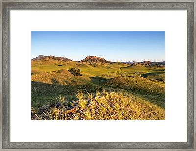 Rolling Hills Of The Bears Paw Framed Print by Chuck Haney