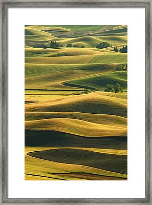 Rolling Hills Of The Palouse Framed Print by Latah Trail Foundation