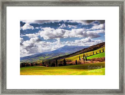 Framed Print featuring the photograph Rolling Hills Of Tuscany by Polly Peacock