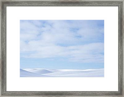 Rolling Hills Winter Framed Print by Latah Trail Foundation