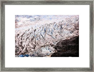 Rolling Ice Peaks Framed Print by Davina Washington