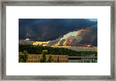 Storm Clouds Rolling In Framed Print