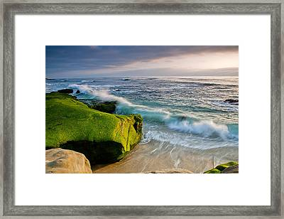 Rolling In Framed Print by Peter Tellone