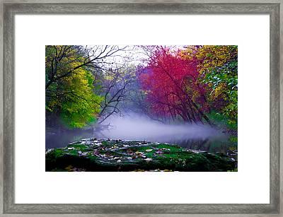 Rolling Mist On The Wissahickon Creek Framed Print