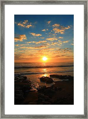 Rolling Over Rocks Framed Print