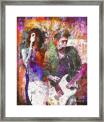 Rolling Stones Framed Print by David Plastik