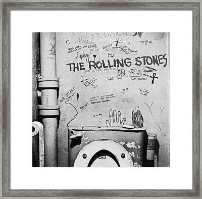 Rolling Stones Framed Print by Jerry Cordeiro