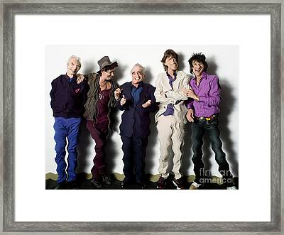 Rolling Stones Martin Scorsese Abstract Art Framed Print by Marvin Blaine