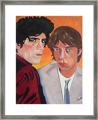Rolling Stones Framed Print by Paula Justus