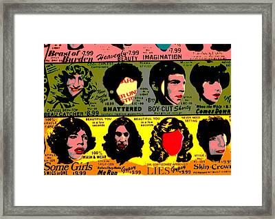 Rolling Stones Pop Art Framed Print by Dan Sproul