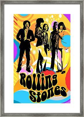Rolling Stones Poster Art Framed Print by Robert Korhonen