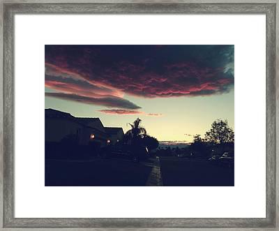 Rolling Through Framed Print