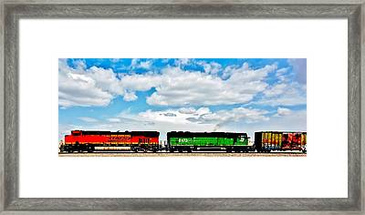Rolling Through New Mexico Framed Print by Benjamin Yeager