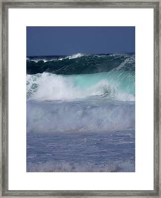 Rolling Thunder Framed Print by Karen Wiles