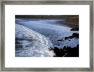 Rolling Waves Framed Print by Aidan Moran