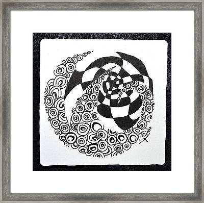 Rolling Zen Framed Print by Beverley Harper Tinsley