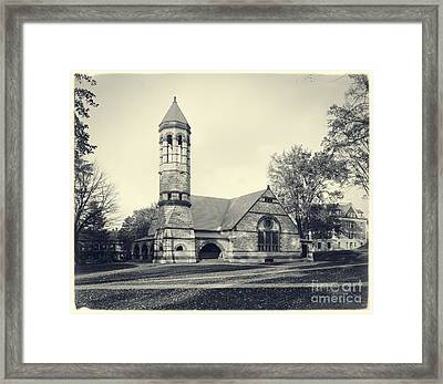 Rollins Chapel Dartmouth College Hanover New Hampshire Framed Print by Edward Fielding