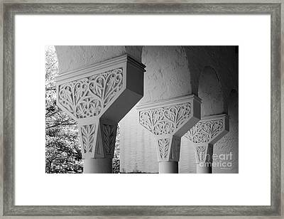 Rollins College Arcade Detail Framed Print by University Icons