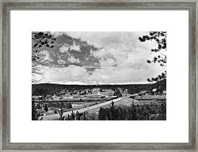 Rollinsville Colorado Small Town 181 In Black And White Framed Print