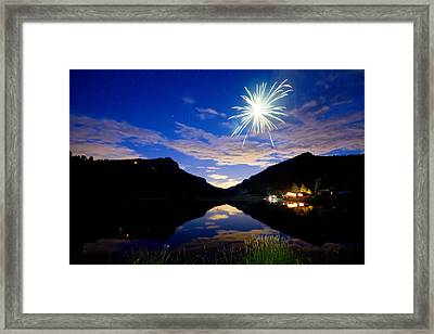 Rollinsville Yacht Club Fireworks Private Show 52 Framed Print