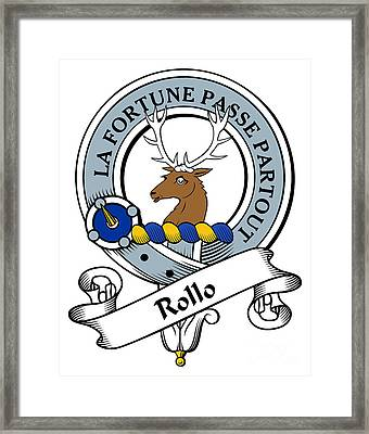 Rollo Clan Badge Framed Print by Heraldry