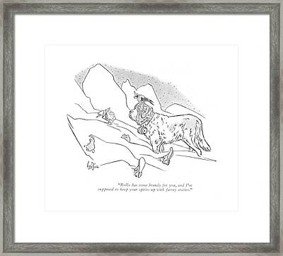 Rollo Has Some Brandy Framed Print by George Price