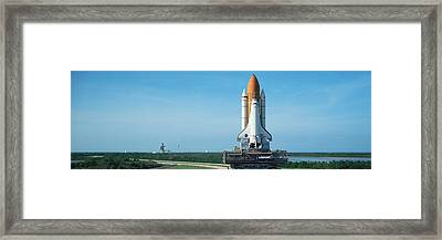 Rollout Of Space Shuttle Discovery Framed Print