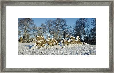 Rollright Stones In Winter Framed Print by Tim Gainey