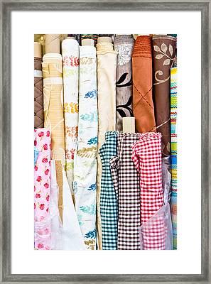 Rolls Of Fabric  Framed Print