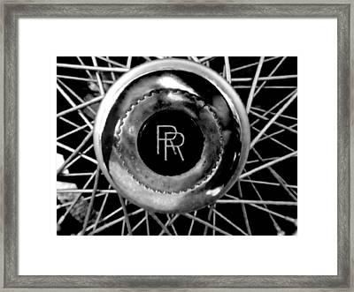 Rolls Royce - Black And White Framed Print