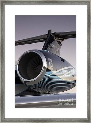 Rolls-royce Ae 3007a2 On Embraer Legacy 650 Framed Print by Dustin K Ryan