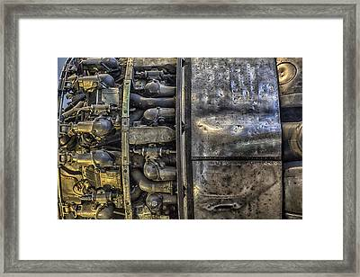 Rolls-royce Dart Turboprop Detail Framed Print by Lynn Palmer