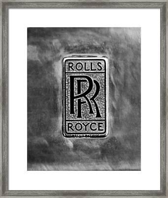Rolls-royce Emblem -1801bw Framed Print by Jill Reger
