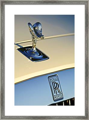 Rolls-royce Hood Ornament 3 Framed Print