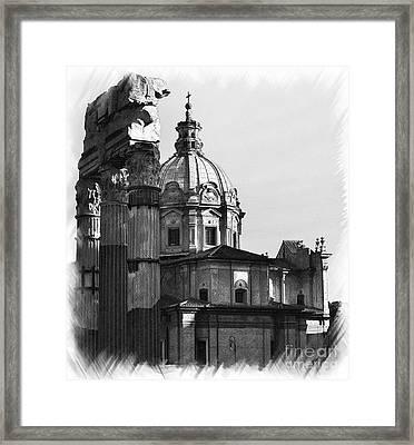 Roma Black And White Framed Print by Stefano Senise