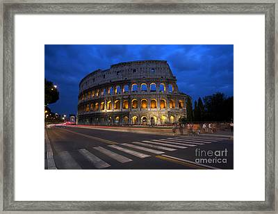 Roma Di Notte - Rome By Night Framed Print by Marco Crupi