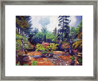 Roma Garden Framed Print by David Lloyd Glover