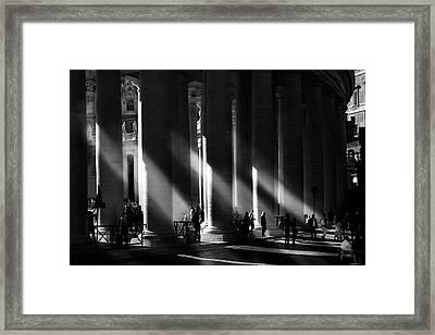 Roma - Piazza San Pietro, Citta? Del Vaticano Framed Print