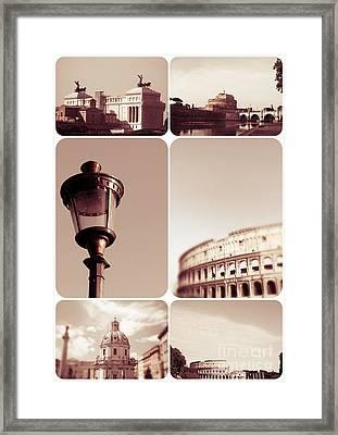 Roma Vintage Framed Print by Stefano Senise
