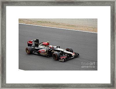 Romain Grosjean Framed Print by David Grant