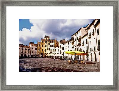 Lucca - Pz. Amfiteatro Framed Print