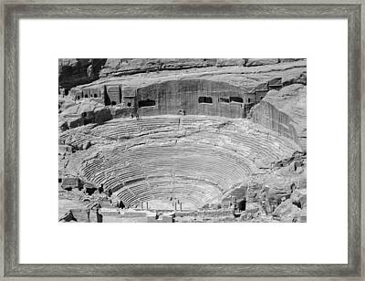 Roman Amphitheatre At Petra Framed Print