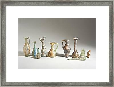 Roman And Islamic Period Glass Bottles Framed Print