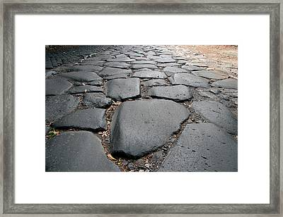 Roman Art The Appian Way, Connecting Framed Print by Prisma Archivo