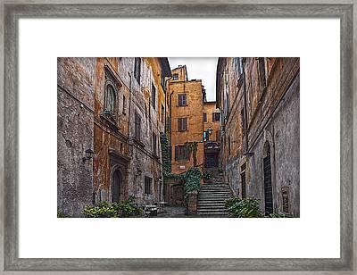 Roman Backyard Framed Print by Hanny Heim