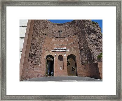 Roman Basilica - Ancient And Modern Framed Print by Rita Mueller