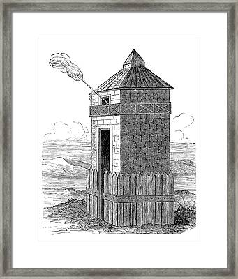 Roman Beacon Tower Framed Print by Science Photo Library