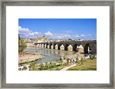 Roman Bridge In Cordoba Framed Print
