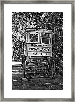 Roman Candy Man Framed Print by Cheri Randolph