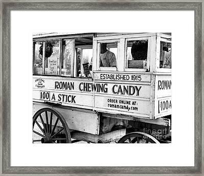 Roman Candy Nola Framed Print by Kathleen K Parker